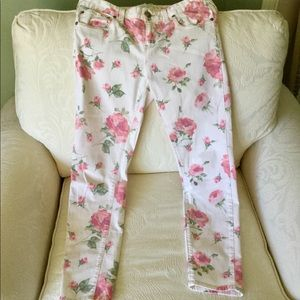 Free People Flower Skinny Jeans